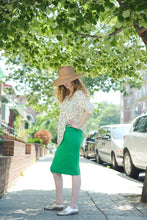 SHORT PENCIL TUBE SKIRT Kelly Green