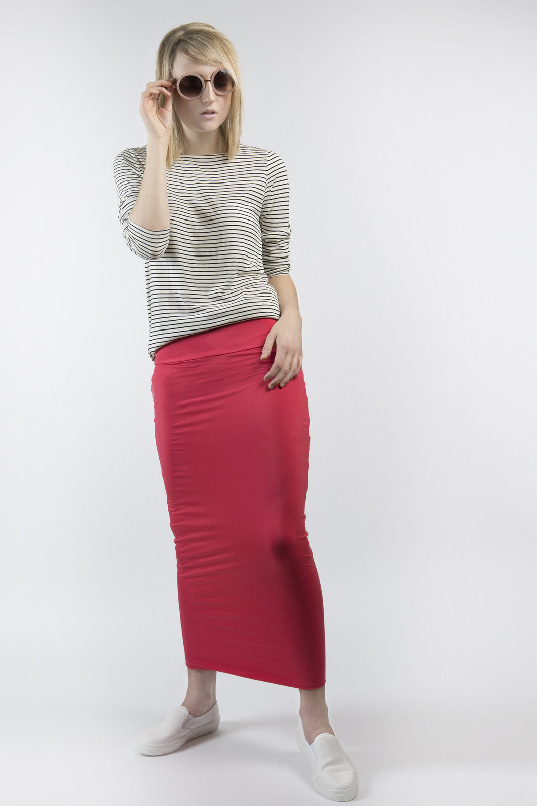 MIDI TUBE SKIRT Watermelon