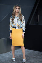 SHORT TUBE SKIRT Mustard