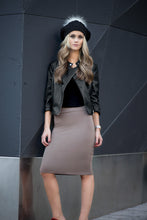 SHORT TUBE SKIRT Olive Taupe