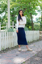 MIDI TUBE SKIRT Navy