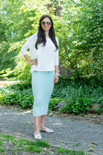 MIDI TUBE SKIRT Mint Green