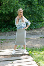 MIDI TUBE SKIRT Heather Grey