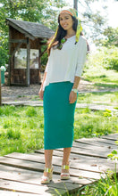 MIDI TUBE SKIRT Aqua Green