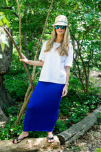 MIDI TUBE SKIRT Cobalt Blue