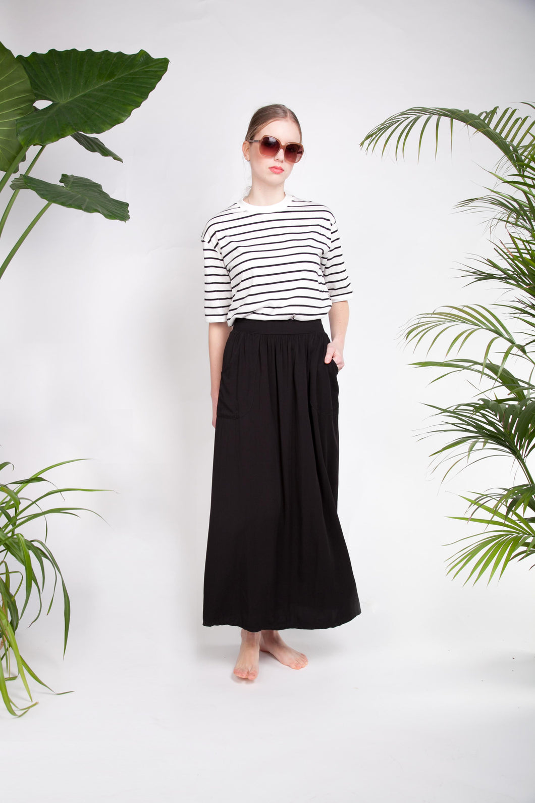 FLARY POCKET SKIRT Black