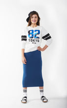 MIDI TUBE SKIRT Blue