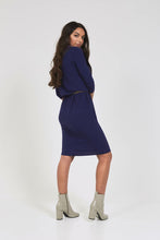 CASABLANCA DRESS Midnight Blue