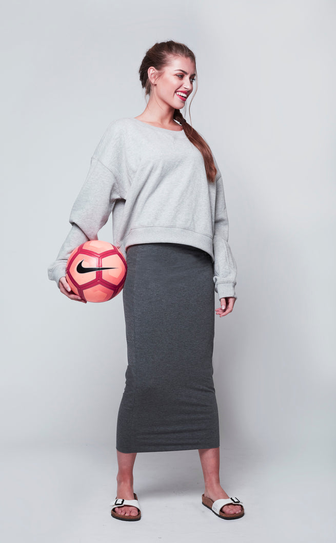 MIDI TUBE SKIRT  Grey Dark