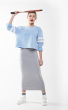 MIDI TUBE SKIRT Heather Grey Light