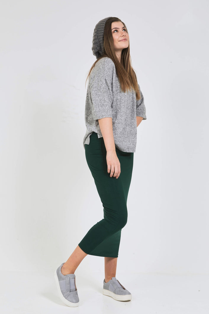 MIDI TUBE SKIRT Hunter Green