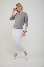 MIDI TUBE SKIRT - White