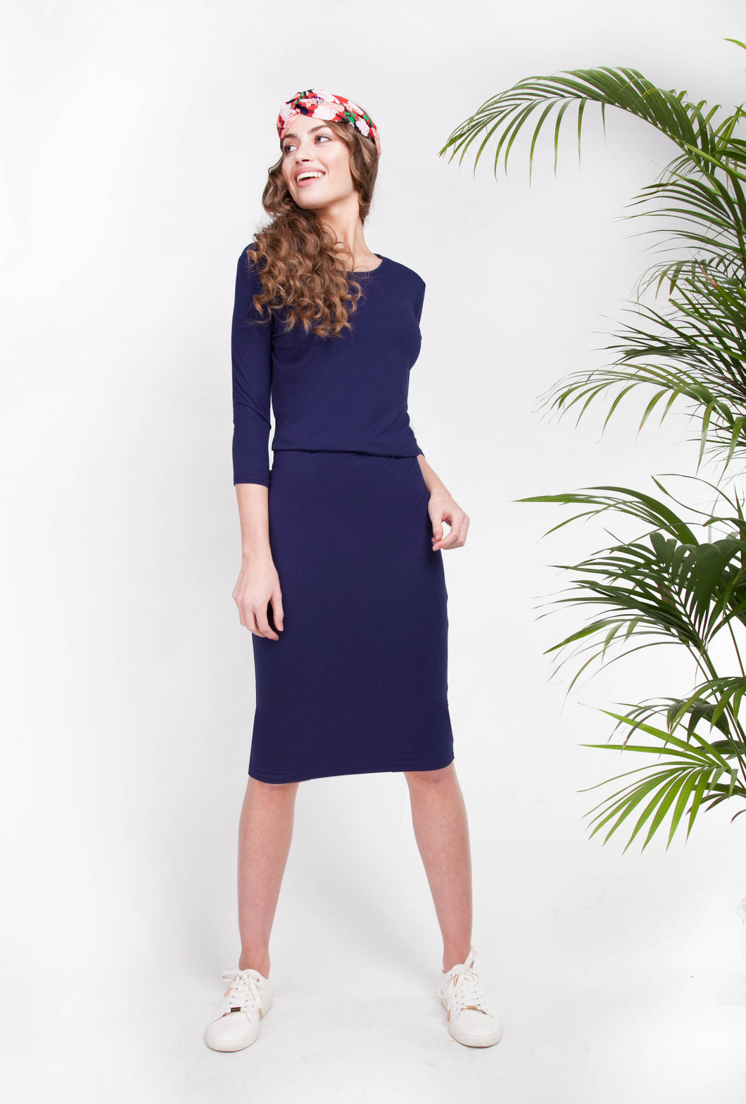 CASABLANCA DRESS Navy