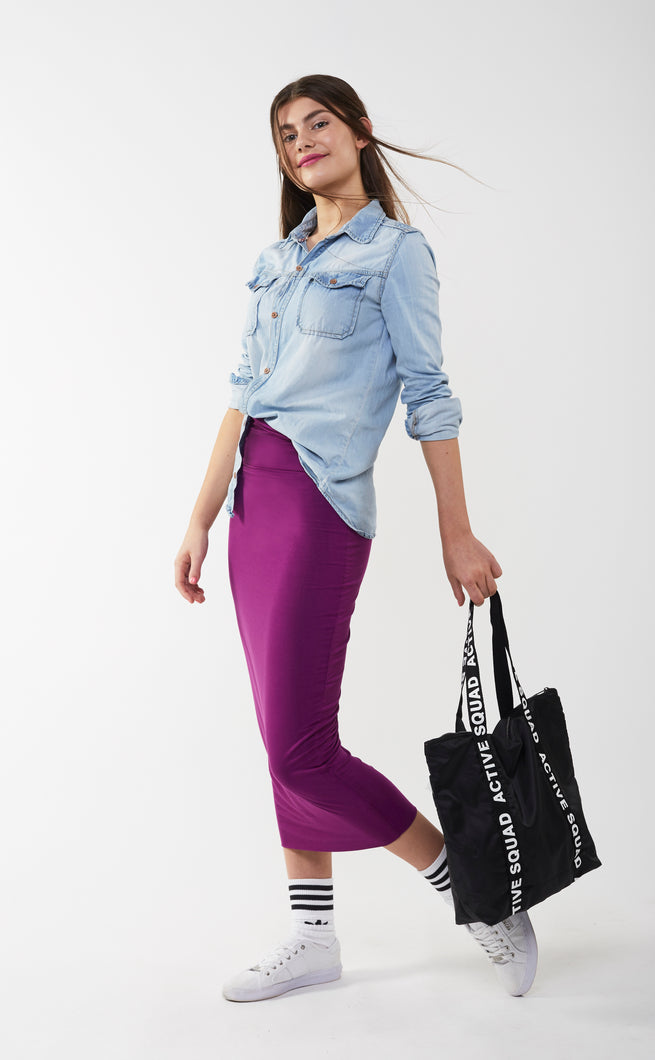 MIDI TUBE SKIRT Purple