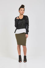 SHORT TUBE SKIRT Khaki Green