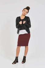 SHORT TUBE SKIRT Burgundy