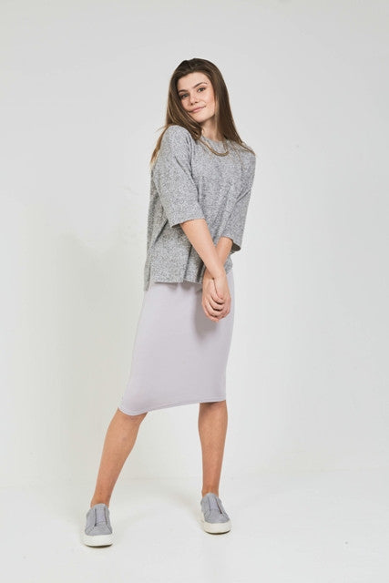SHORT TUBE SKIRT Silver