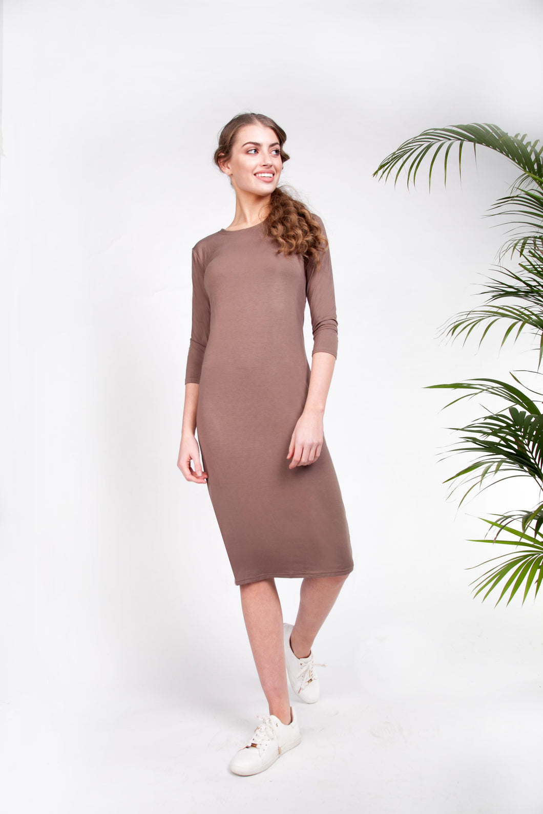 BODY DRESS Olive Taupe