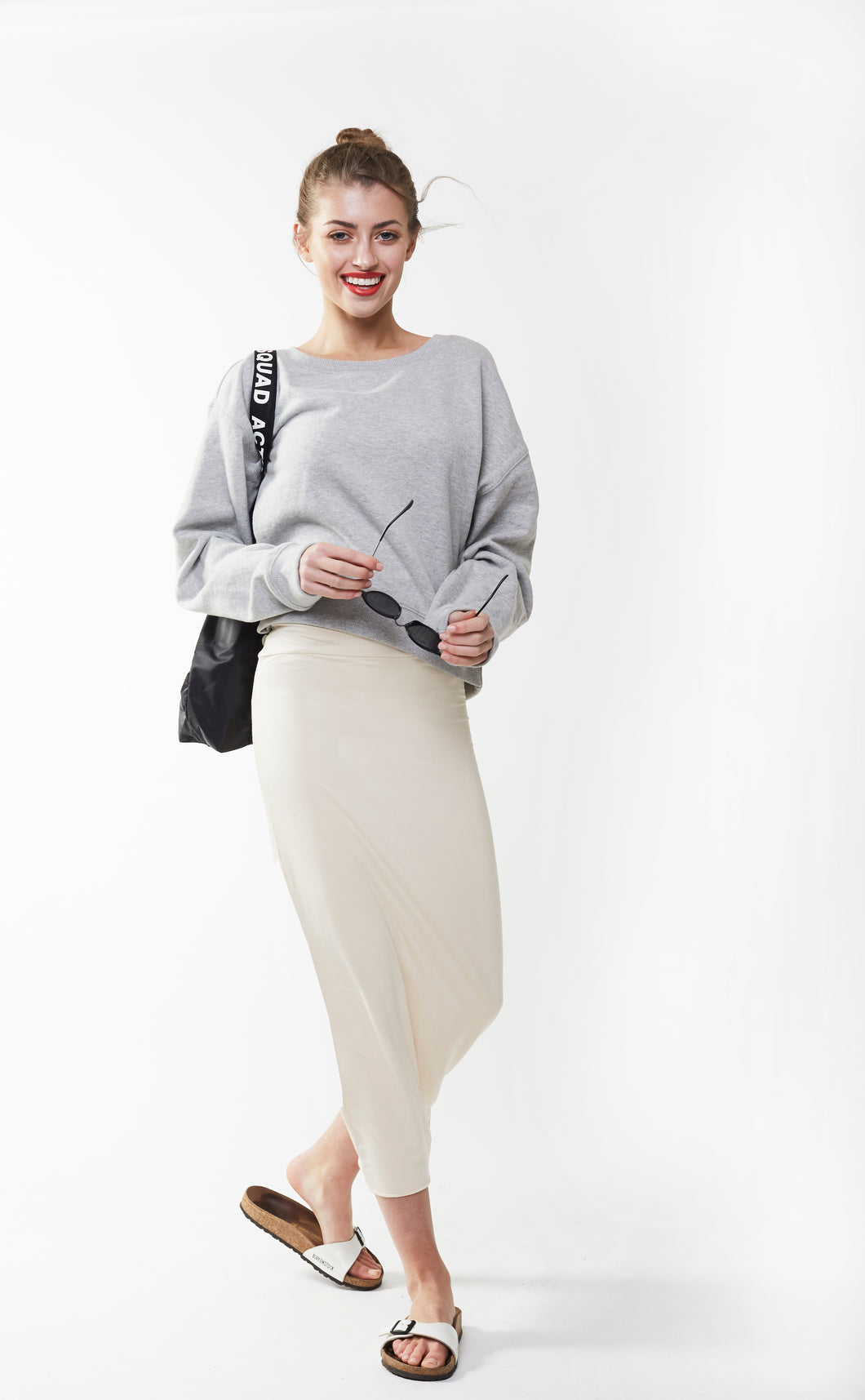 MIDI TUBE SKIRT Vanilla