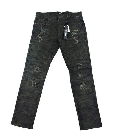 Biker Stretch Denim - Camo