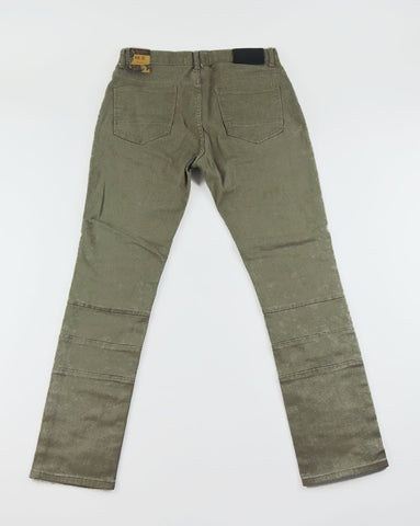 Destroyed Biker Denim - Tan