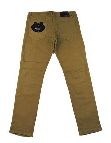 Biker Stretch Denim - Khaki