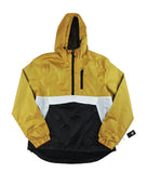 Half Zip Windbreaker - Gold/White/Black
