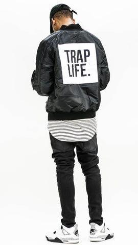 Trap Life Bomber - Black
