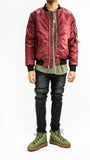 Thick Bomber Jacket - Burgundy