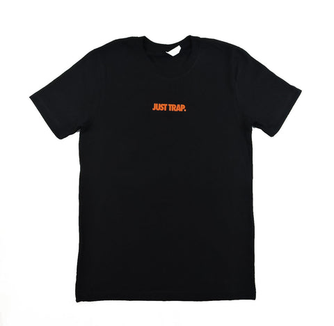 Just Trap Tee - Black w/ Orange