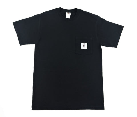 Lean on Me Pocket Tee - Black