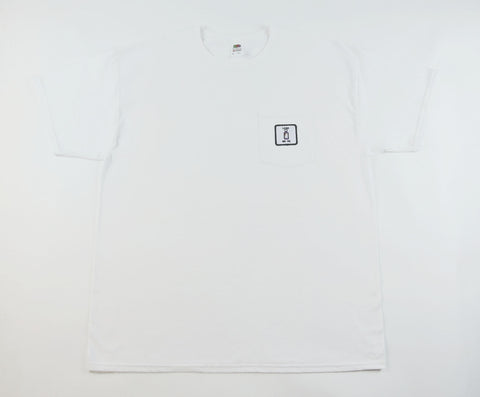 Lean on Me Pocket Tee - White