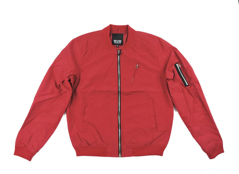 Thin Bomber Jacket - Red