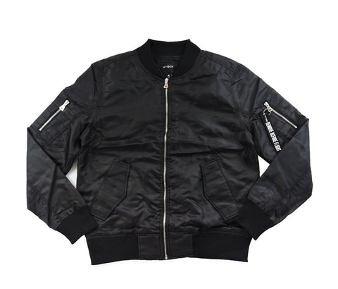 Thin Bomber Jacket - Black