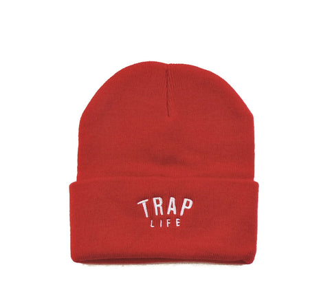Trap Life Beanie - Red