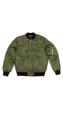 Thick Bomber Jacket - Olive