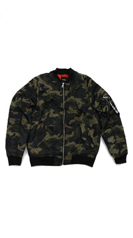 Thick Bomber Jacket - Camo