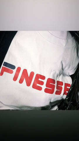 Finesse Tee - White w/ Red
