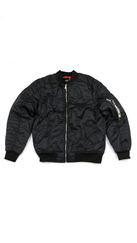 Thick Bomber Jacket - Black
