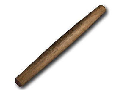 French Rolling Pin - Black Walnut Finish - Wooden Tapered Design