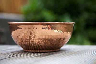 "Copper Hammered Mixing Bowl - 7.5"" Size"