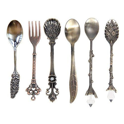 Vintage Royal Style Mini Dessert Flatware - 6 Piece Set