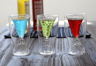 Mermaid Tail Glass - 3 Piece Set