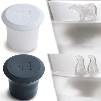 Polar Bear and Penguin Ice Mold - 2 Piece Set