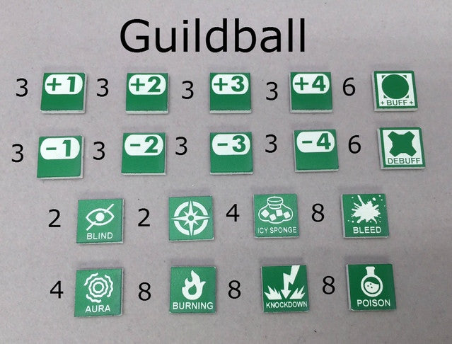 Tokens Compatible with Guildball
