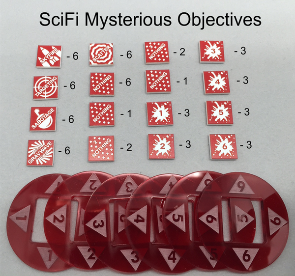 SciFi Mysterious Objectives Tokens