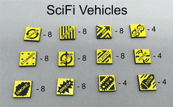 SciFi Vehicle Damage Tokens