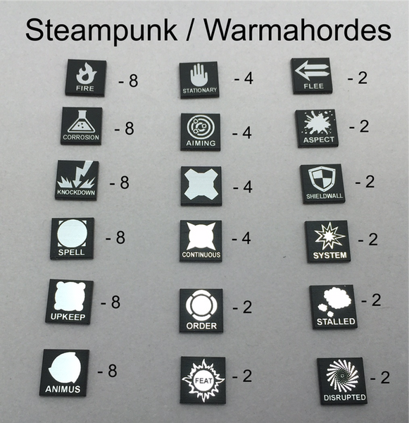 Token Set Compatible with Warmahordes