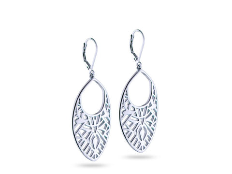 """Nelli"" Truth, Earrings in White Gold"