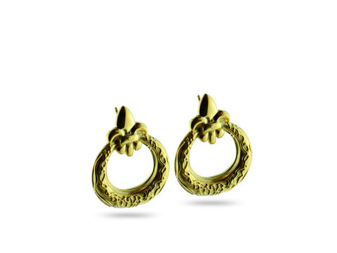 """Eva"", Life Earrings in Yellow Gold"